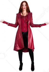 Super Heroine Scarlet Witch Cosplay Costume Coat Inspired by Avengers: Infinity War Make to Order