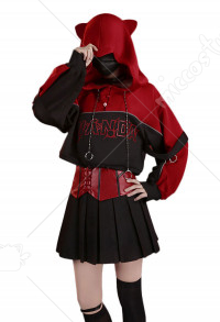 Wanda Maximoff Scarlet Witch Daily Red Uniform Full Set Outfit Cosplay Costume