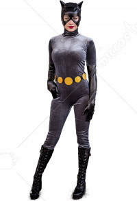 Superhero Cat Woman Cosplay Jumpsuit Bodysuit Costume