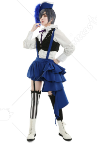 Black Butler Kuroshitsuji Ciel Phantomhive Book of Circus Cosplay Costume Set