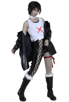 D.Gray Man Noah Devit Cosplay Costume Hoodie with Leather Pants
