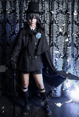 Black Butler Ciel Black Funeral Uniform Costume