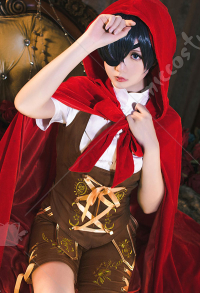 Black Butler Ciel Phantomhive x Little Red Riding Hood Cosplay