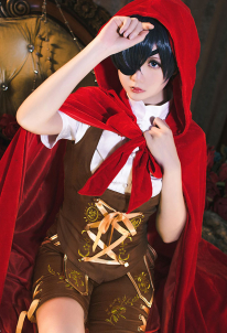 Black Butler Ciel Phantomhive x Little Red Riding Hood Cosplay Costume