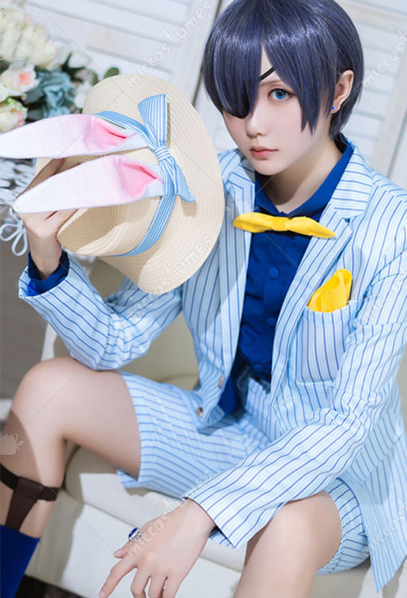 Black Butler Ciel Phantomhive Kaninchen Outfit Cosplay Kostüm
