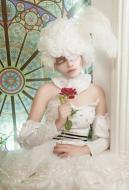 Black Butler Druitt Alaist Chambers Wire Princess Circus Doll White Dress Cosplay Costume
