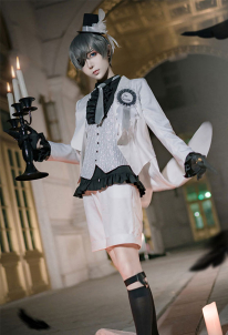 Black Butler Ciel Cosplay Costume Western Style Wedding Suit