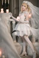 Black ButlerElizabeth Cosplay Costume Western Style Wedding Dress