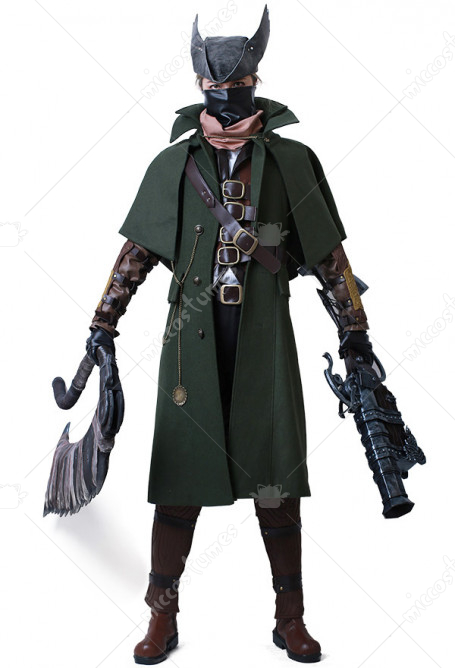 Bloodborne The Hunter Cosplay Costume Fullset for Halloween