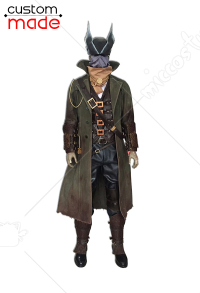 Deluxe Handmade Bloodborne the Hunter Cosplay Costume Including Scarf and Boots
