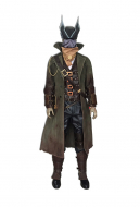 Bloodborne the Hunter Cosplay Costume Including Scarf and Boots