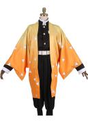 Kimetsu no Yaiba Agatsuma Zenitsu Demon Killing Corps Demon Hunter Uniform Cosplay Costume