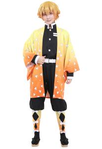 Demon Slayer Kimetsu no Yaiba Agatsuma Zenitsu Demon Killing Corps Demon Hunter Uniform Cosplay Costume , $43.99 (was $62.48)