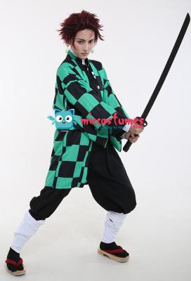 Demon Slayer Kimetsu no Yaiba Kamado Tanjirou Demon Killing Corps Demon Hunter Uniform Cosplay Costume