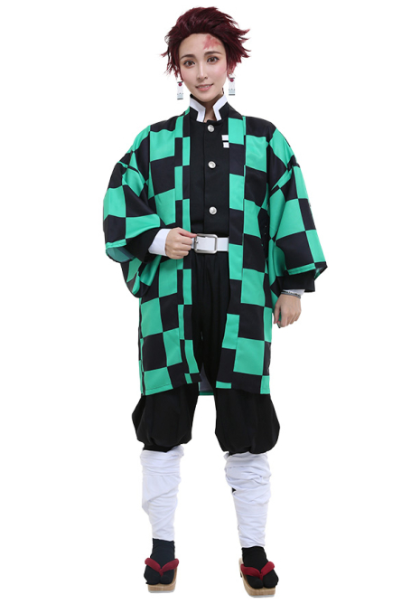 Demon Slayer Kimetsu no Yaiba Costume de Cosplay Kamado Tanjirou Uniforme d'équipe