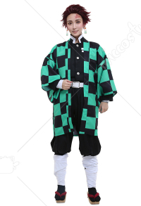 [Free US Economy Shipping] Demon Slayer Kimetsu no Yaiba Kamado Tanjirou Demon Killing Corps Demon Hunter Uniform Cosplay Costume