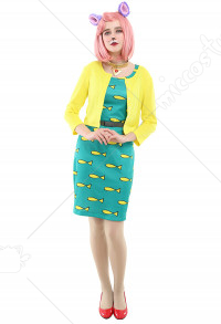 Princess Carolyn Cat Gril Halloween Cosplay Costume