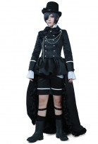 Black Butler Ciel Phantomhive Classic Black Cosplay Costume Suit Dress