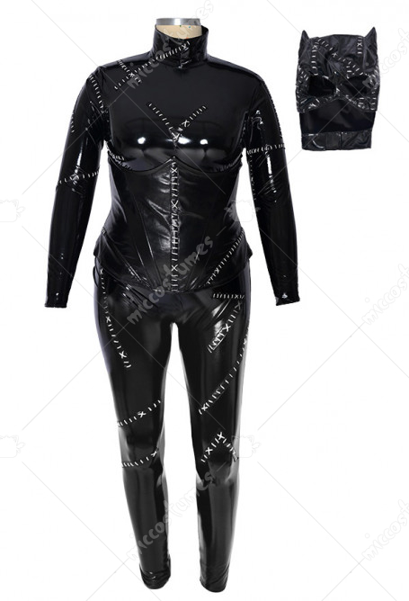 Plus Size Super Heroine Jumpsuit Costume Inspired by Cat Woman Make to Order