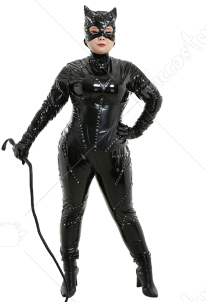 Plus Size Super Heroine Jumpsuit Costume Inspired by Catwoman Make to Order