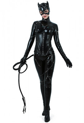Super Heroine Cat Woman Jumpsuit Costume
