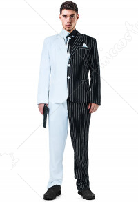Supervillain Cosplay Suit Costume with Tie and Fake Collar Inspired by Two-Face Make to Order