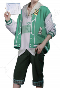 My Hero Academia Midoriya Izuku Deku Baseball Coat Outfit Full Set Uniform Cosplay Costume