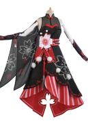 My Hero Academia Momo Yaoyorozu Creati Printing Kimono Cosplay Costume