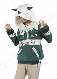 My Hero Academia Izuku Midoriya Cute Dinosaur Hoodie Coat Men Daily Cosplay Costume