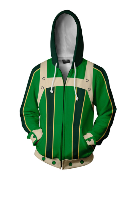 [Free US Economy Shipping] My Hero Academia Tsuyu Asui 3D Print Daily Hoodie Coat Cosplay Costume