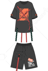 My Hero Academia Ensemble de T-shirt et Short de Cosplay Katsuki Bakugo