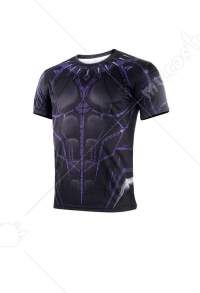 Superhero Purple Shorts Pants & T-shirt Inspired by Black Panther Movie Make to Order