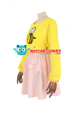 Bee and Puppycat Bee Pink Skirt Cosplay Costume