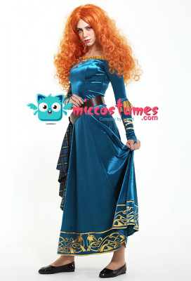 Exclusive Brave Princess Merida Adult Dress Cosplay Costume