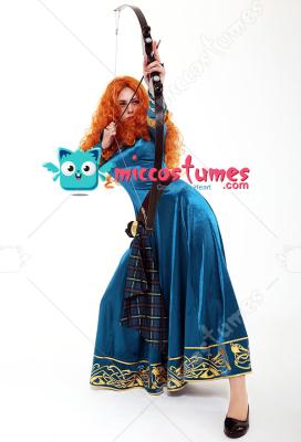 Exclusive Brave Princess Merida Adult Dress Cosplay Costume