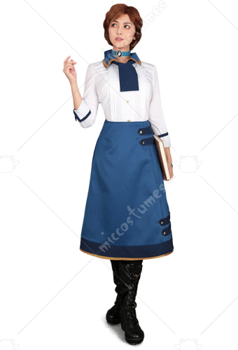 BioShock Infinite Elizabeth Cosplay Costume Dress Set