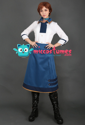 BioShock Infinite Elizabeth Cosplay Costume Dress Set