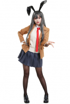 Rascal Does Not Dream of Bunny Girl Senpai Sakurajima Mai School Uniform Cosplay Costume
