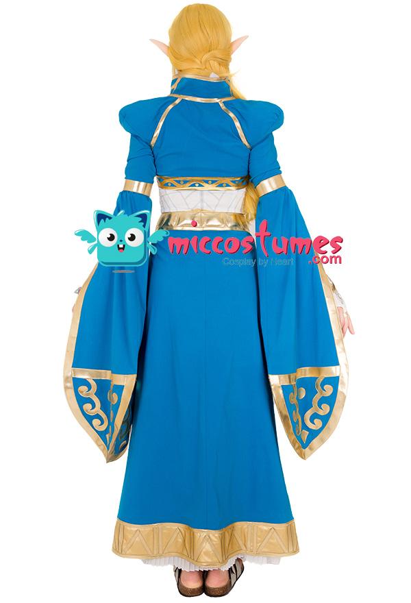 Exclusive The Legend of Zelda Breath of the Wild Prinzessin Zelda Blau Langes Kleid Cosplay Kostüm