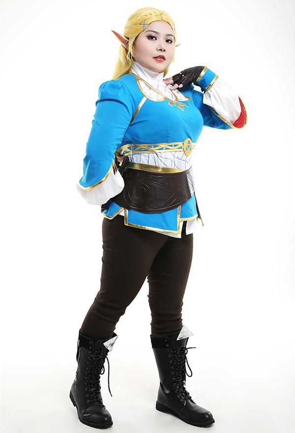 Übergröße The Legend of Zelda Breath of the Wild Princess Zelda Curvy Cosplay Kostüm