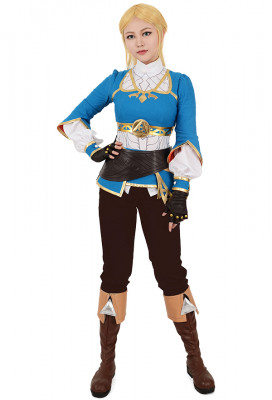 [Free US Economy Shipping] The Legend of Zelda: Breath of the Wild Princess Zelda Cosplay Costume