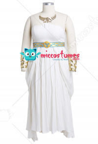 Plus Size The Legend of Zelda: Breath of the Wild Princess Zelda White Dress Curvy Cosplay Costume with Headdress and Necklace