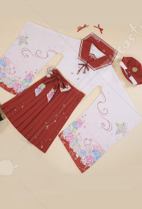 Twelve Constellation Cancer Daily Cosplay Costume Japanese Style Kimono Maiden JK Uniform Sailor Collar Pleated Skirt Set