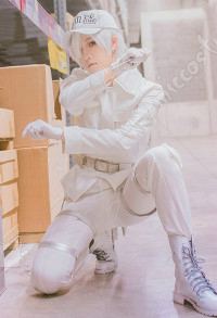 Cells at Work! U-1146 Neutrophil White Blood Cell Cosplay Costume Uniform Suit