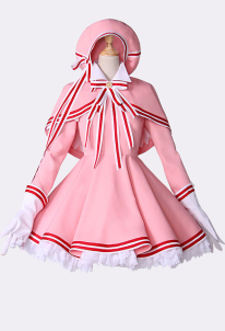 Spark Anime Cardcaptor Sakura Clear Card Sakura Pink Lolita Battle Cosplay Costume