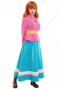 Chuuka Ichiban Cooking Master Boy Mei Li Cosplay Costume Top and Skirt Set with Necklace and Earings