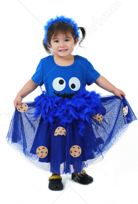 Child Halloween Chocolate Chip Cookie Biscuit Costume Dress