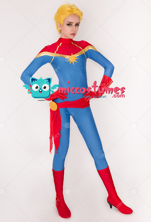e678c5f820e Superhero Cosplay Jumpsuit Costume Spandex Lycra Bodysuit Inspired by Captain  Marvel Movie Make to Order