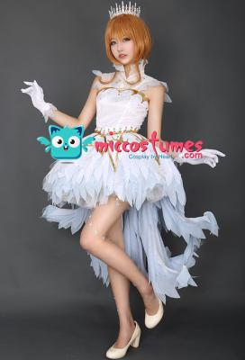 Exclusive Cardcaptor Sakura OP Sakura White Dress Cosplay Costume