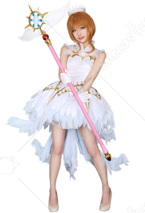 Exclusive Cardcaptor Sakura OP Sakura White Dress Cosplay Costume